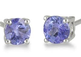 tanzanite stud earrings 5mm tanzanite stud earrings set in 925 sterling silver