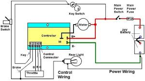 typical scooter power control wiring