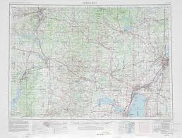 Maps Wisconsin by Green Bay Topographic Maps Wi Usgs Topo Quad 44088a1 At 1