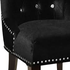 armen living carlyle side chair in black velvet al lcf024tusibl at