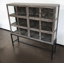 industrial style wood glass and metal cabinet armoires large