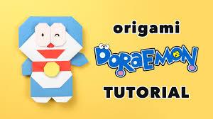 cara membuat origami hello kitty 3d origami doraemon tutorial ドラえもん diy paper kawaii youtube