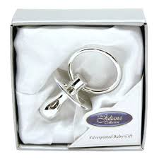 silver plated baby gifts baby silver plated data dummy christening baptism gift