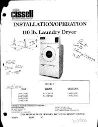 cissell clothes dryer l44fd42 l44cd42 user guide manualsonline com