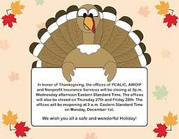 office closed for thanksgiving message festival collections