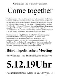 gloreiche on offener brief mieterinnen sich gehör verschaffen die berliner koalitionswilligen werden
