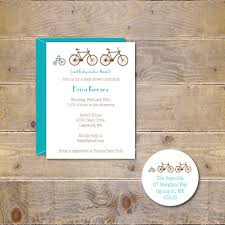 bicycle baby shower invitations bikes tricycle baby