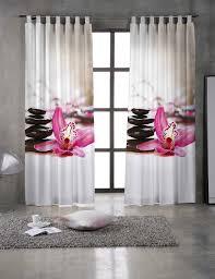 rideaux de cuisine originaux rideau zena avec orchidées