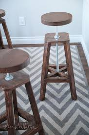 Wooden Bar Stool Plans Free by Ana White Industrial Adjustable Height Bolt Bar Stool Diy Projects