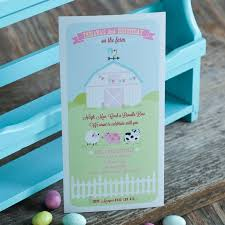 pastel barnyard farm birthday party printable invitation