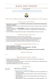 Mba Graduate Resume Sample by Summer Internship Resume Samples Visualcv Resume Samples Database