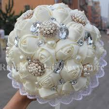 Artificial Flower Bouquets Aliexpress Com Buy New Wedding Ivory Silk Rose Wedding Bouquet