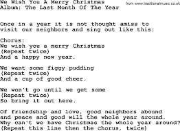 kingston trio song we wish you a merry lyrics
