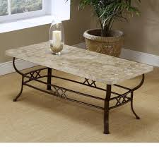 Living Room Sofa Tables by Furniture White Marble Top Stone Coffee Table For Living Room