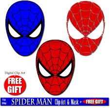 spider man clipart spiderman mask pencil color spider man