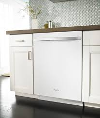 White Kitchen Cabinets And White Appliances by Whirlpool