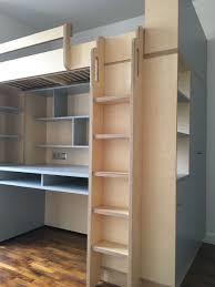 lit mezzanine ado avec bureau et rangement lit mezzanine sur mesure pour grand ado avec espace bureau et