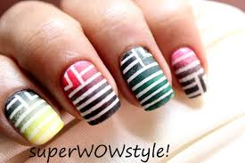 ombre nails beautiful gradient stripes nail designs tutorial