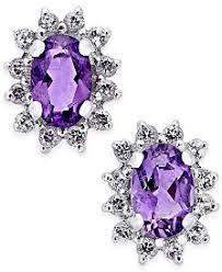 purple stud earrings purple stud earrings for women buy stud earrings for women at
