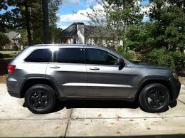 grey jeep grand cherokee 2015 blacking out the chrome trim jeep garage jeep forum