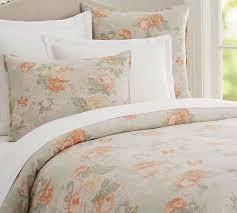 elora floral print duvet cover u0026 sham pottery barn