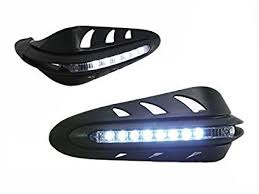 bicycle daytime running lights universal motorcycle motorbike quad bike handguards with inbuilt