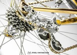 50th anniversary gold plate vicini oro anniversary gold plated bicycle cagnolo 50th