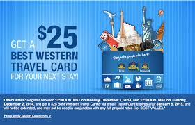 prepaid travel card images Today only best western free 25 travel card one mile at a time png