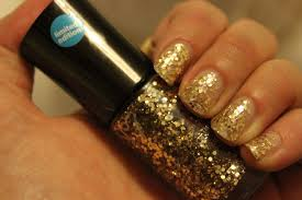 pooches and cream no7 deco darling glitter nail polish in gold