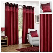 red curtains amazon co uk