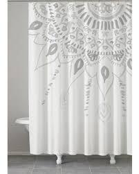 Kassatex Shower Curtain Big Deal On Medallion Shower Curtain Grey 72 X72