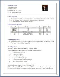 Sample Resumes Format by Sample Resume Formats For Experienced