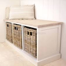 entryway bench with baskets and cushions storage bench with baskets black cushion and coaster cushions