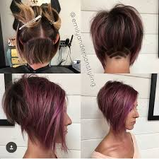 layered buzzed bob hair i love how the undercut pattern peeks out from under the back