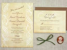 scroll wedding invitations available now vintage scroll wedding invitation sofia