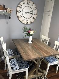 Beachy Kitchen Table by Buy A Hand Made Rustic Beachy Farmhouse Trestle Dining Table Made