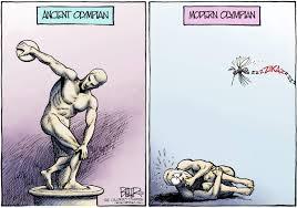 Nate Beeler Cartoons Beeler Cartoon Ancient Vs Modern Olympics