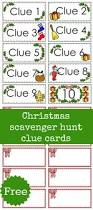 Free Printable Halloween Cards For Kids Christmas Scavenger Hunt Free Printable Clue Cards For Kids
