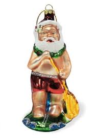 island heritage stand up paddleboard santa collectible