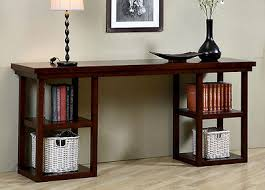 credenza table wood console table credenza accent display shelves storage books
