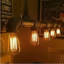 Schlafzimmer Lampe E27 Vintage Pendelleuchten Metall Eisen Wasserleitung Lampe Steampunk