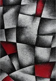 Wohnzimmer Design Rot Designer Teppich Wohnzimmer Grau Rot Modern Dicht Gewebt Mit