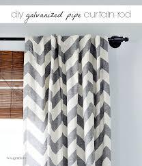 diy another galvanized pipe curtain rod hi sugarplum