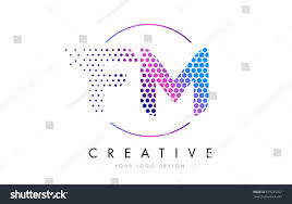 fm f m pink magenta dotted stock vector 619235057 shutterstock