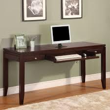 idabel dark brown wood modern desk with glass top wood modern writing desk u2014 all home ideas and decor ideas for