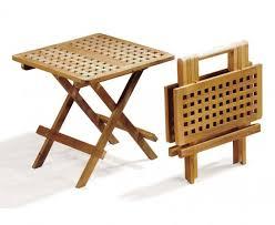 Collapsible Picnic Table Square Teak Folding Picnic Table Small Portable Foldable Side Table