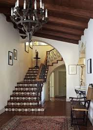 Front Staircase Design Staircase Design Ideas Spanish Style Tiled Staircase And