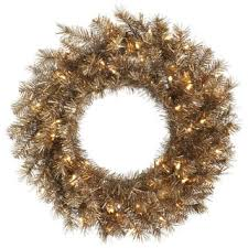 tinsel artificial 30 inch wreath with 100 led lights