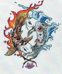 yin and yang koi fish in color by robinevafayembry on deviantart