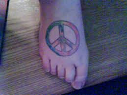 peace sign tie dye tattoo designs tattoo pictures